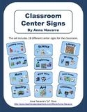 18 Classroom Center Signs
