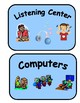 18 Classroom Center Signs