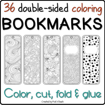 18 Coloring Bookmarks (X2)