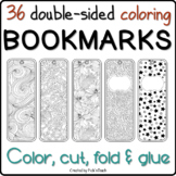 36 coloring BOOKMARKS - Special occasion GIFTS