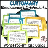18 Customary Measurement Task Cards with Higher Order & Multistep Word Problems