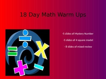 18 Day Math Warm Ups - Place Value and Number Operations