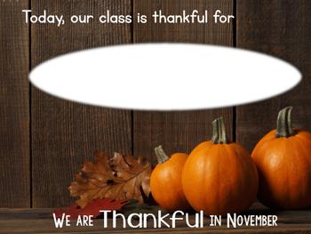 Thankful in November