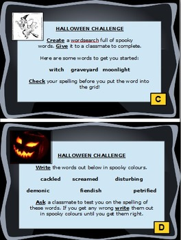 18 Differentiated Halloween Task Cards