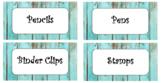 18 Drawer Label Teacher Toolkit - Teal Barnwood