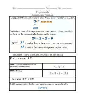 1.8 Exponents