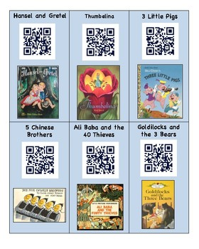 18 Fairytale QR codes for read alouds