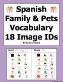Spanish Family and Pets 18 Vocabulary IDs - La Familia