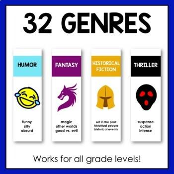 Library Shelf Labels | Fiction Genres