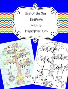 18 Fingerprint Kids End of the Year and Autograph Memory Page