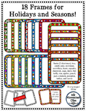 18 Frames for Holidays and Seasons - Line art included!