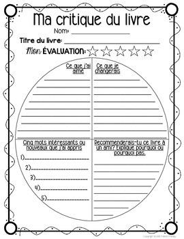 14 French Graphic Organizers Bundle for Reading, Writing & Organization (PART 2)