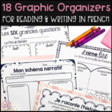 18 French Graphic Organizers Bundle for Reading, Writing &