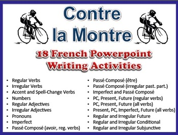 18 French Writing Activities to Practice Various Grammar T