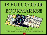 18 Full Color Bookmark Package