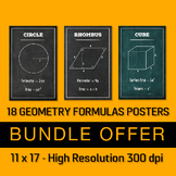 18 Geometry Posters - Bundle Offer