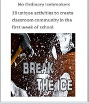18 Great Icebreaking Activities for the first week