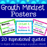 Growth Mindset Motivational Inspirational Quote Posters in