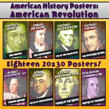 18 High Resolution American History Posters 20x30 FREE FOR A DAY!