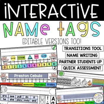18 Interactive Dry-Erase Name Tags: PreK, Kindergarten, or First Grade