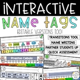 EDITABLE Name Tags Interactive Dry-Erase