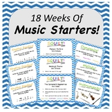 18 Music Lesson Starters (Editable Slides)