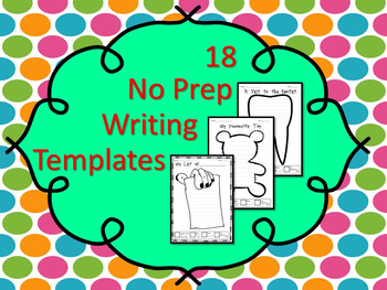 18 No Prep Writing Printables (with Checklist to Self Assess)
