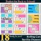 18 Organizer Labels --Rolling Cart Drawers-- Spring Flowers - Pink Purple Blue Y