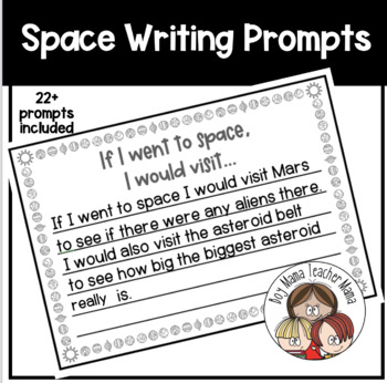 18 Outer Space Writing Prompts and 3 Kinds of Blank Story Papers