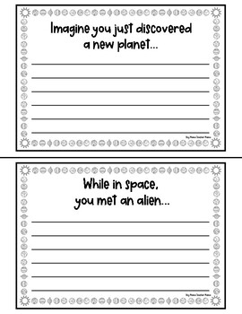 18 Space Writing Prompts with Space-Themed Writing Paper