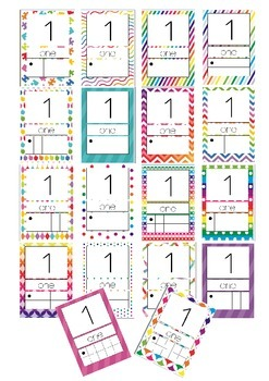 18 Pack of Numbers 0-20 Posters