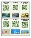 18 QR codes in Spanish for Science - Animals Unit