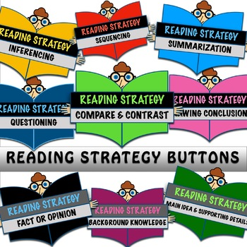 18 Reading Strategy PNG Buttons FREE for a Limited Time!