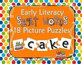 18 Sight Words Picture Puzzles {Early Literacy Center}