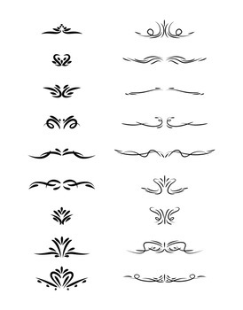 18 Small Decorative Elements | Hand Drawn Vintage Divider | Vector Clipart