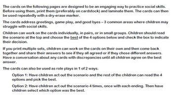 18 Social Skills Task Cards