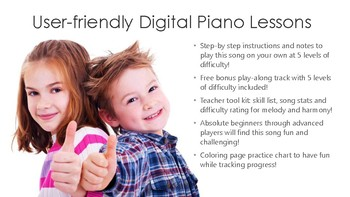 18-Song Holiday Mega-Pack; Piano Lesson Bundle - 342 Pages!