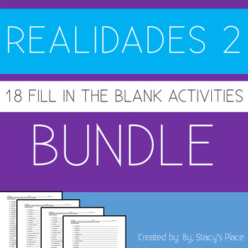 18 - Spanish 2 Fill in the Blank Bundle