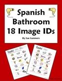 Spanish House 18 Bathroom Vocabulary IDs Worksheet - El Baño