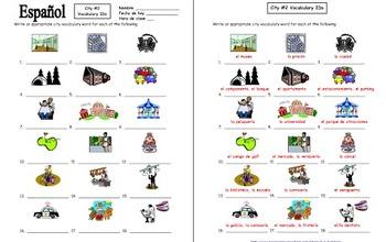 Spanish City 18 Vocabulary IDs #2 - La Ciudad