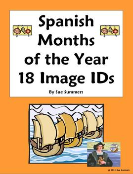 Spanish Months of the Year Vocabulary IDs - Spanish Calendar