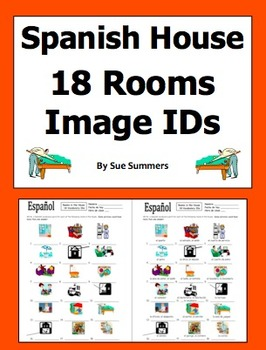 Spanish House  - 18 Rooms Vocabulary IDs and Answer Key