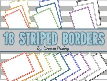18 Striped Borders {FREEBIE!}