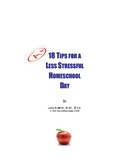 18 Tips for a Less Stressful Homeschool Day