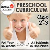 Tot School Preschool Curriculum Bundle Homeschool (Age 2-3)