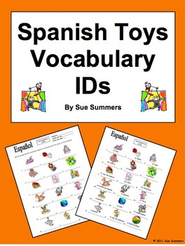 Spanish Toys Vocabulary IDs Worksheet - 18 Images - Los Juguetes