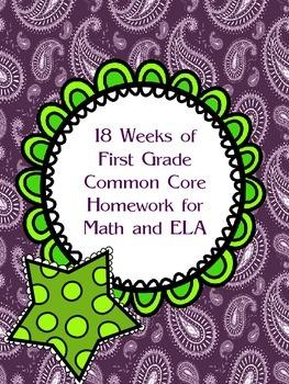 18 Weeks of First Grade Homework