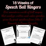 18 Weeks of Speech Bell Ringers
