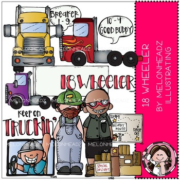 18 Wheeler clip art - COMBO PACK - by Melonheadz