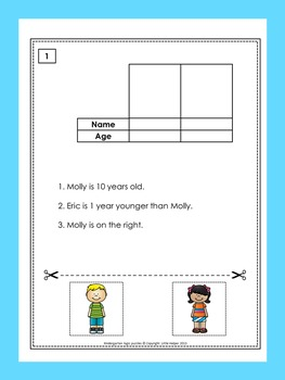 logic puzzles for kindergarten 1st grade and special ed by little helper. Black Bedroom Furniture Sets. Home Design Ideas